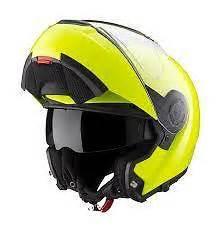 bmw system 6 evo helmet fluro yellow with bmw optional