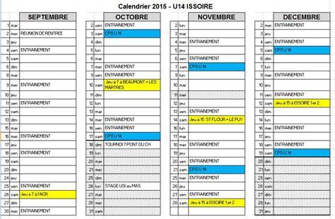 Calendrier U 17 2015 Calendrier U14 Septembre 224 D 233 Cembre 2015 Usi Rugby