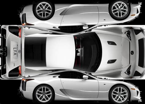 Paper Folding Car - the lexus lfa may cost 375k but the paper one is free