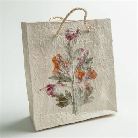 Handmade Paper Bag - handmade paper gift bag small eternal threads