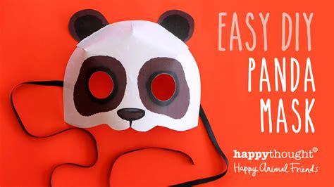 printable panda mask template printable panda mask template photo tutorial youtube