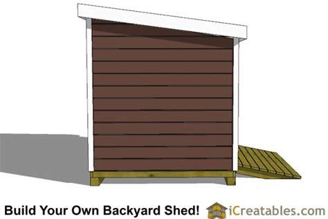lean  storage shed plans