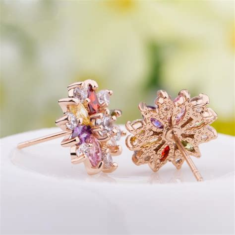 Bunny Stainless Steel Ring 18k Gold Plated R78 7 Cincin Fsr 0021 18k real gold plated gold stud earrings with