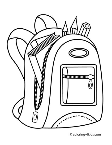 school bag colouring pages index of coloringpages school