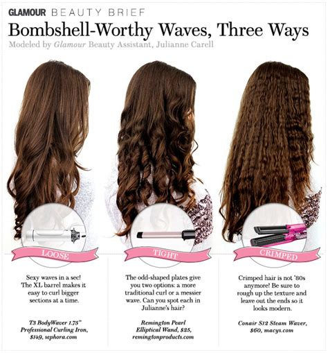 digferent waysto curlbhairbwith wand hair how to bombshell worthy waves three ways glamour