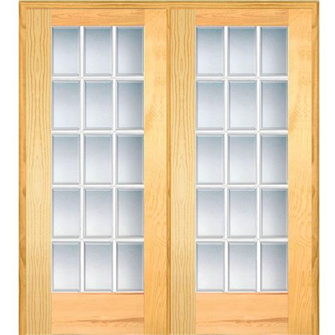 48 inch interior door builder s choice 48 in x 80 in 10 lite clear wood pine