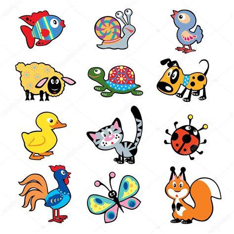 dibujos infantiles con animales flores y plantas en foto de simple ni 241 os con animales vector de stock
