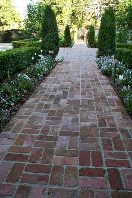 classic brick basket weave walkway home exterior pinterest