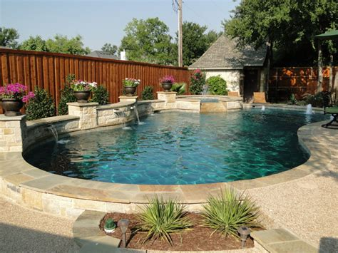 small built in pools freeform pool arbor and built in grill with limestone bar
