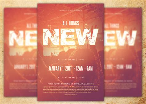 Church Flyer All Things New Church Flyer Template By Loswl Graphic
