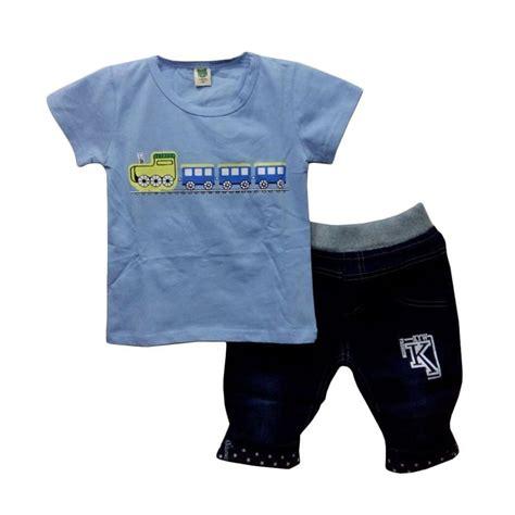 Baju Setelan Hi Mm Denim Anak jual import kid motif setelan baju anak laki laki blue size m harga