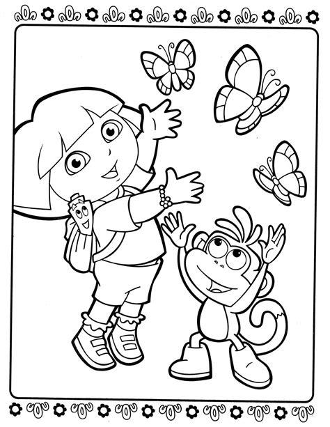 printable dora activity sheets dora 81 coloringcolor com