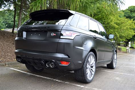 range rover svr black range rover sport svr wrapped in satin black reforma uk