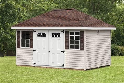How To Build A Hip Roof Shed by Mini Barn Hip Roof Sheds Cedar Craft Storage Solutions