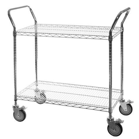 Wire Shelf Cart by Chrome 2 Shelf Wire Utility Cart