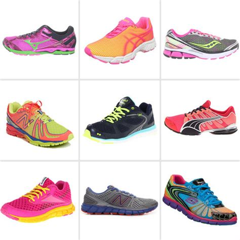 neon athletic shoes neon running shoes winter 2012 popsugar fitness
