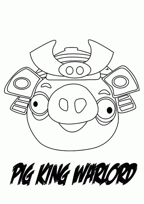 king pig coloring page color angry birds space pigs coloring pages coloring home