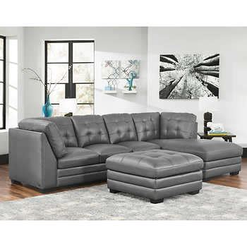 top grain leather sectional with ottoman top grain leather sectional with ottoman living