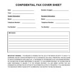 Cover Letter Confidential confidential fax cover sheet printable cover letter