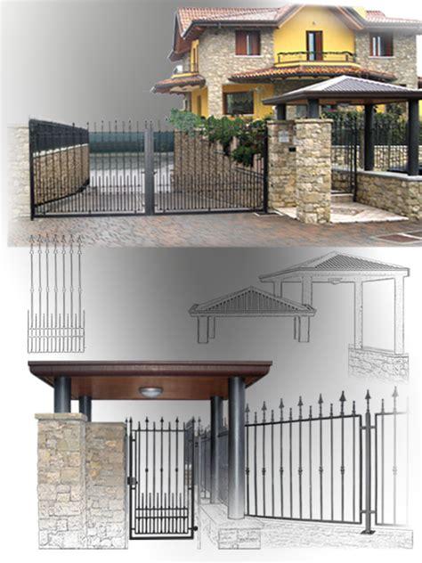 tettoie per cancelli pedonali copertura cancello pedonale