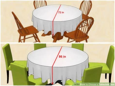 how many can sit at a 72 inch round table 3 ways to choose a tablecloth size wikihow