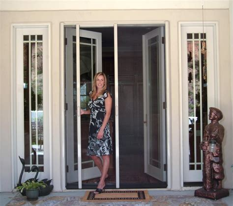 How To Do Window Treatments by Retractable Screen French Door From His Clearview