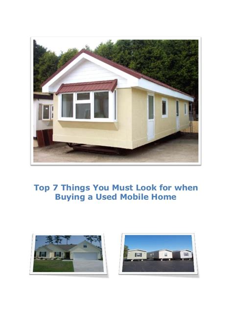 top 7 things you must look for when buying a used mobile home