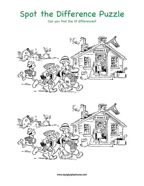 printable christmas spot the difference games spot the difference back to school puzzle learning