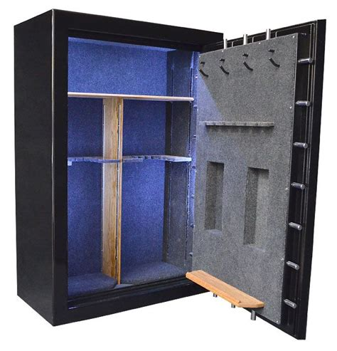 gun safe interior lights custom gun safe interior with led lighting oak shelving