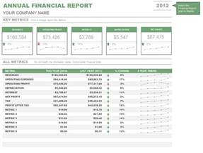 Samples Of Financial Reports Annual Financial Report Template Sample