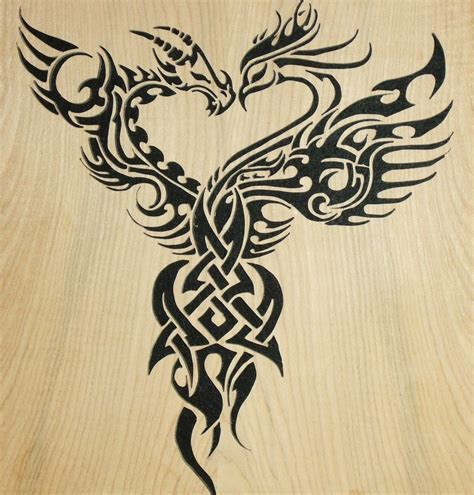 dragon tattoo represents phoenix and dragon phoenix represents beauty good luck
