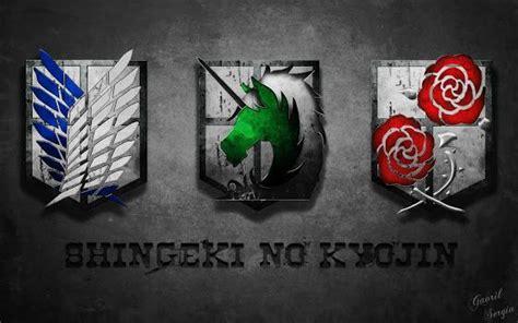 Snk Scouting Legion Emblem Frame attack on titan shingeki no kyojin emblem logo anime hd wallpaper desktop pc background attack