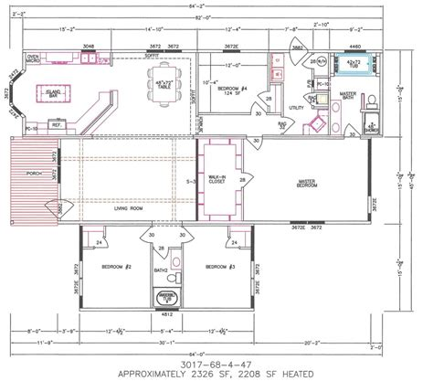 wide floor plans 4 bedroom 4 bedroom manufactured homes home design