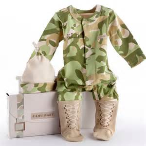 The twiggery baby soldier baby gift set camoflage baby clothes