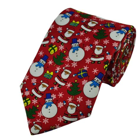 snowman santa claus novelty christmas tie from ties