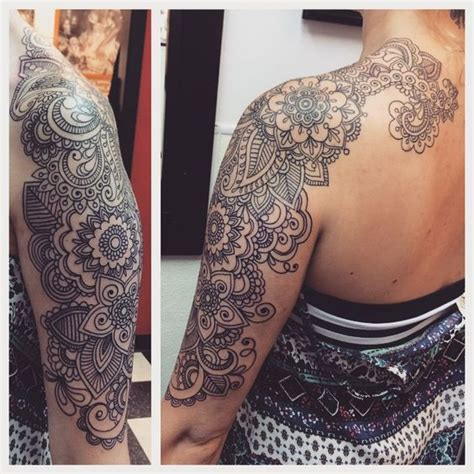 real henna tattoos paisley half sleeve bohemian with tattoos