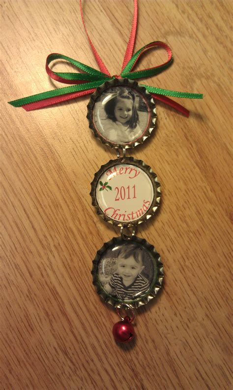 personalized bottle cap ornaments great christmas gifts