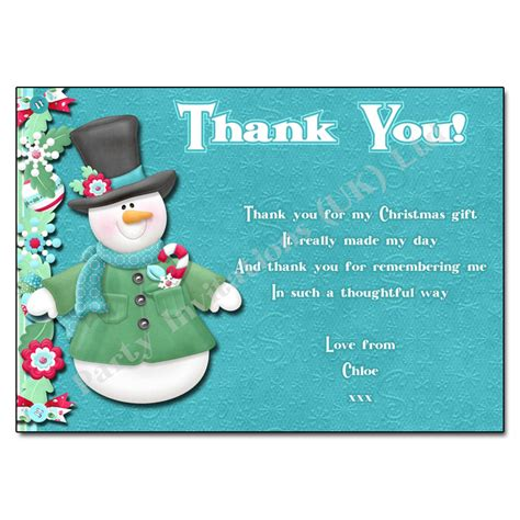 holiday cheer christmas thank you note