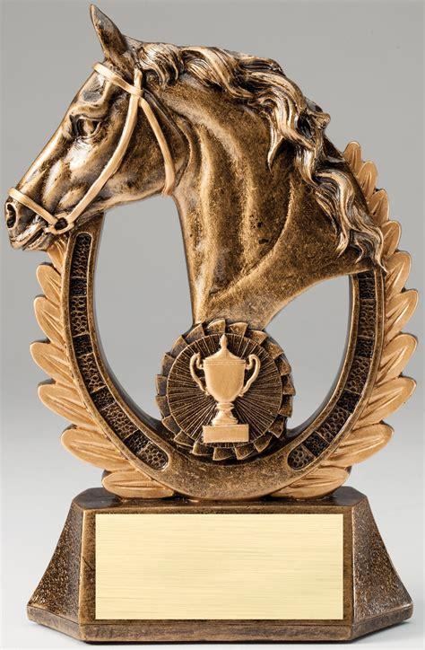 horse head resin trophy awardtrophy trolley