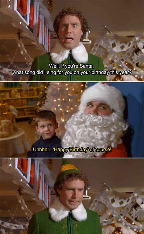 happy birthday christmas quotes funny elf quotes buddy  elf quotes
