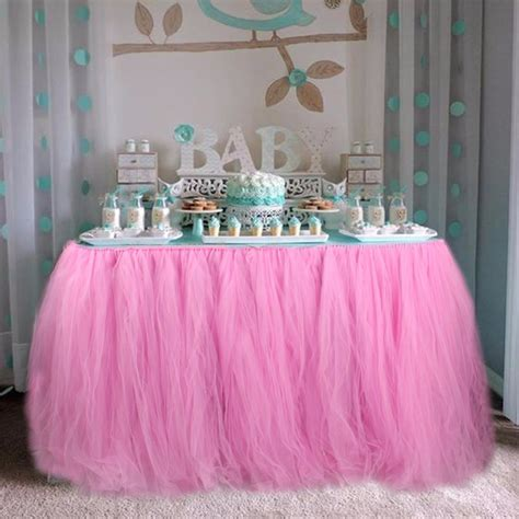 baby shower table cloths tulle tutu table skirt baby shower table cloths for