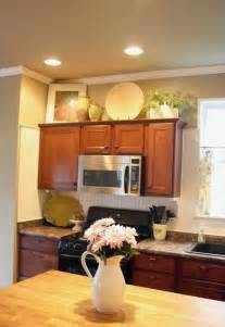 kitchen decor above cabinets decorating above kitchen cabinets freshomes