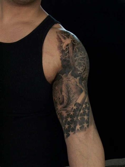 American Quarter Sleeve Tattoo | 34 beautiful american flag tattoos desiznworld