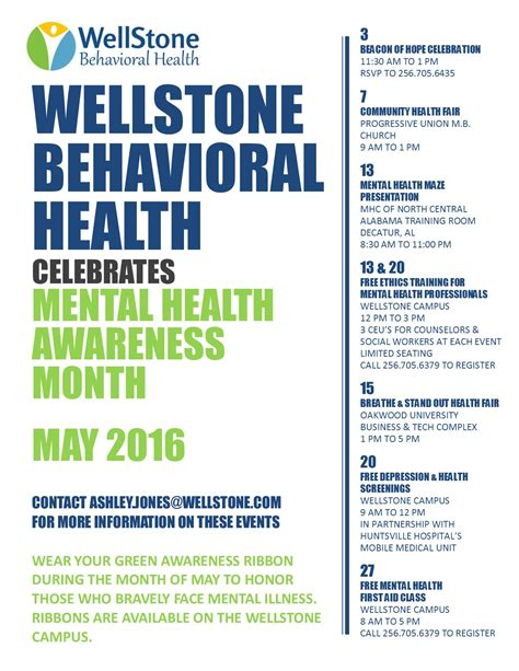 May Is Mental Health Awareness Month Wellstone Free Mental Health Flyer Template