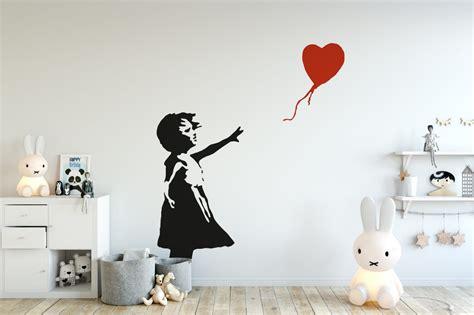 banksy girl balloon wall sticker popular banksy wall