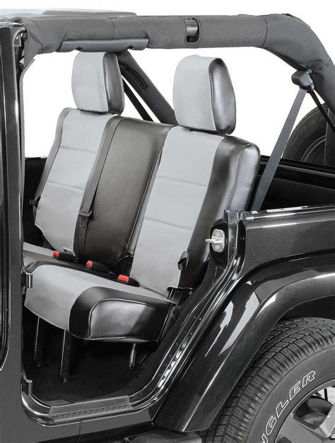 2007 jeep wrangler x seat covers coverking rear leatherette seat covers for 2007 jeep