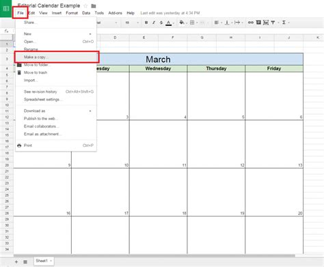 how to make a picture calendar how to create a free editorial calendar using docs