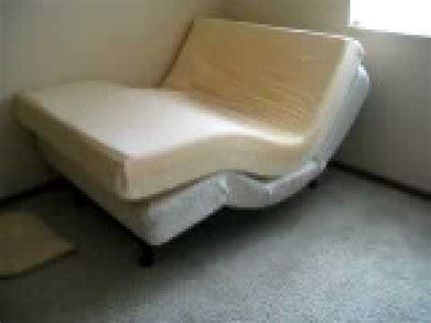 tempur pedic 174 memory foam mattress motorized adjustable base demonstration