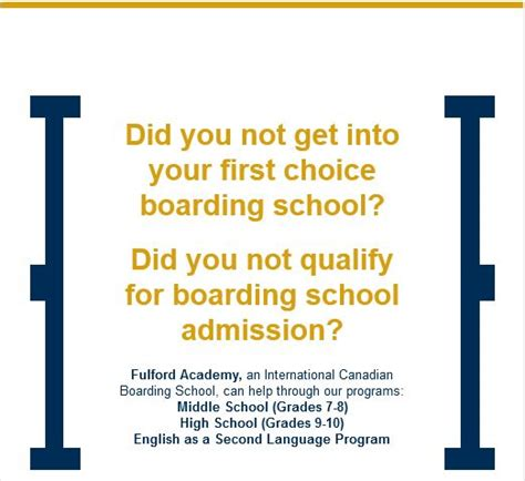 Boarding School Admission Letter Fulford Academy An International Canadian Boarding School