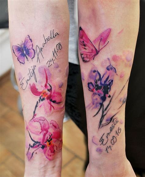 watercolor tattoo writing 63 bright vibrant and stunning dose of water color
